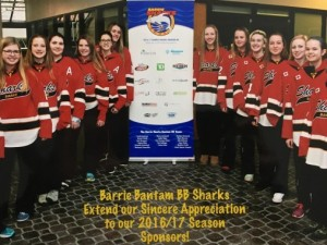 Sponsor picture - Bantam BB sharks team